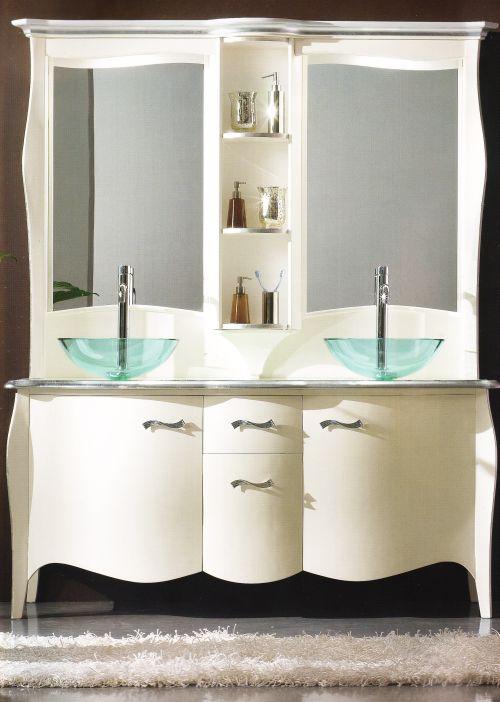 bagno style 7 articolo style 7 mobile bagno bombato completo di lavabi ...