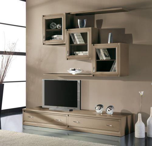 Parete attrezzata per soggiorno o salotto ok come vetrina libreria e porta tv ebay - Arredamento parete soggiorno ...