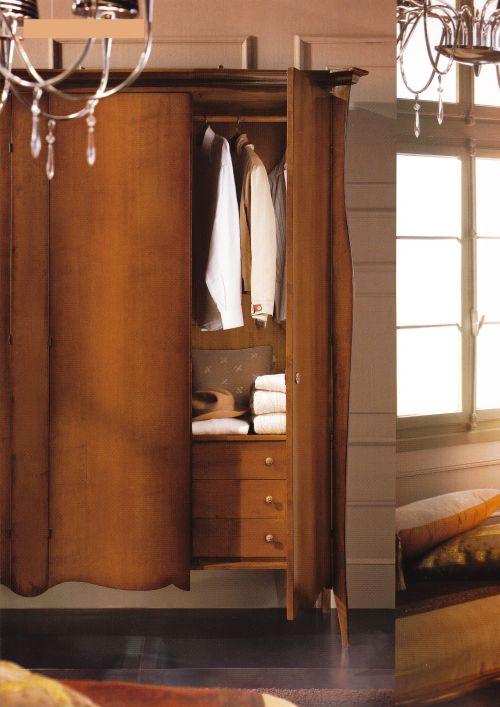 Camere da letto in stile italian style casale di - Armadio con cassettiera interna ...