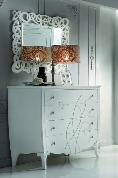 Camera letto di design laccata bianca como 39 comodini for Camere da letto a poco prezzo